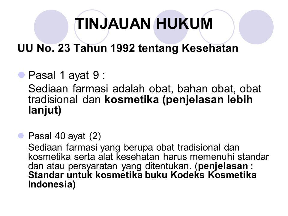 Pasal 41 ayat (1) Sediaan farmasi dan alat kesehatan hanya dapat diedarkan setelah mendapat izin edar.
