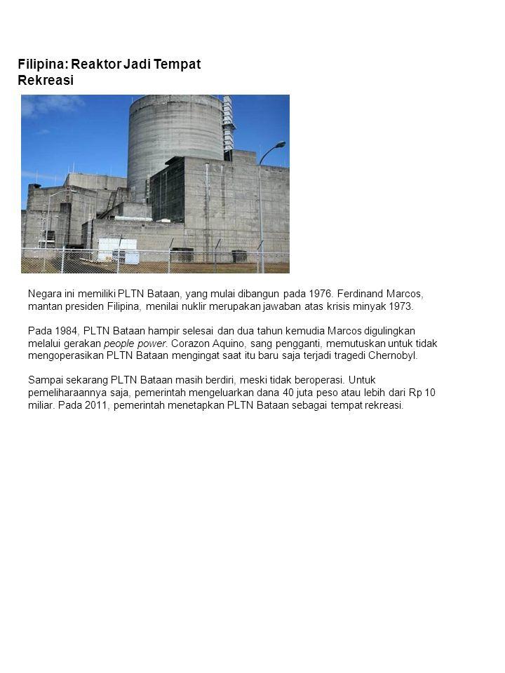 Malaysia: Sudah Punya Reaktor Tunggal Pada 1972, pemerintah mendirikan Nuklear Malaysia untuk mengkaji kemungkinan pemanfaatan nuklir di tengah krisis minyak 1970.