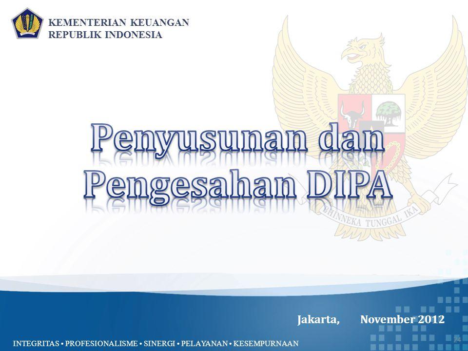 INTEGRITAS PROFESIONALISME SINERGI PELAYANAN KESEMPURNAAN Jakarta, November 2012 24