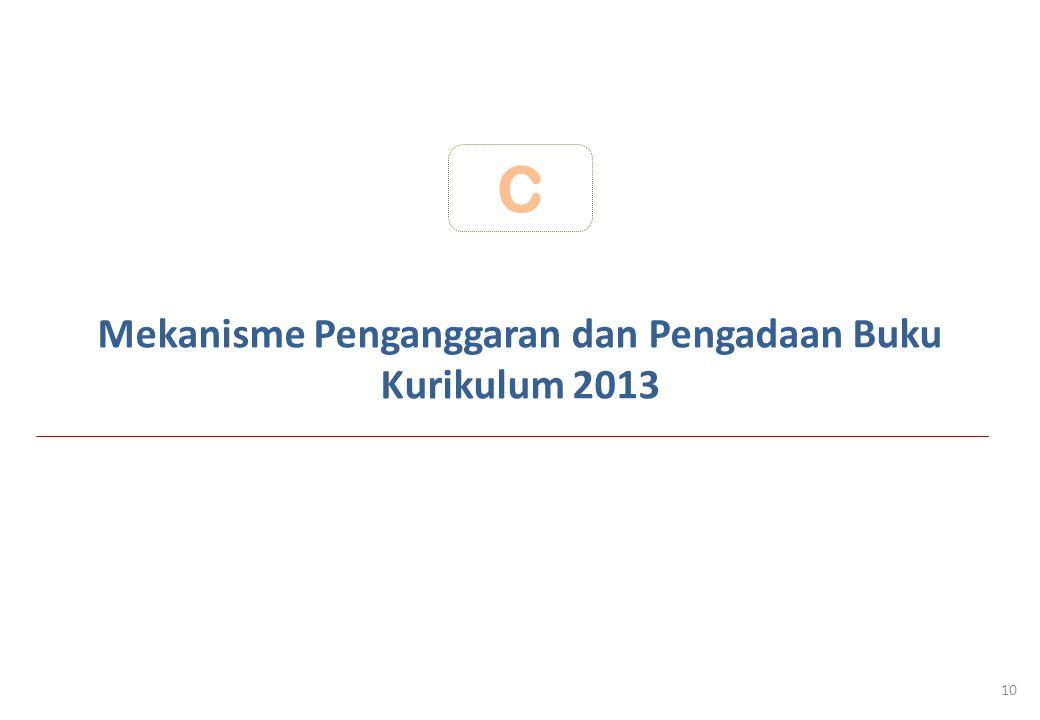 Mekanisme Penganggaran dan Pengadaan Buku Kurikulum 2013 C 10