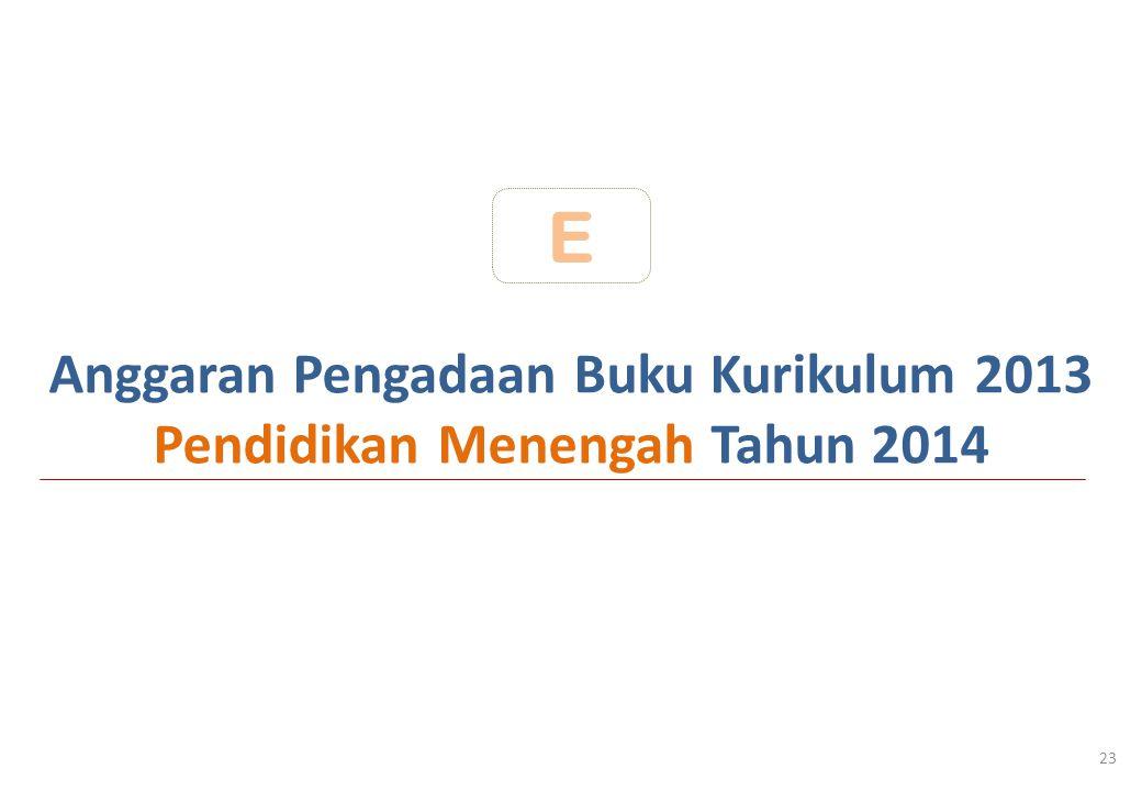 Anggaran Pengadaan Buku Kurikulum 2013 Pendidikan Menengah Tahun 2014 23 E