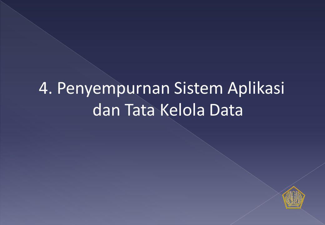4. Penyempurnan Sistem Aplikasi dan Tata Kelola Data