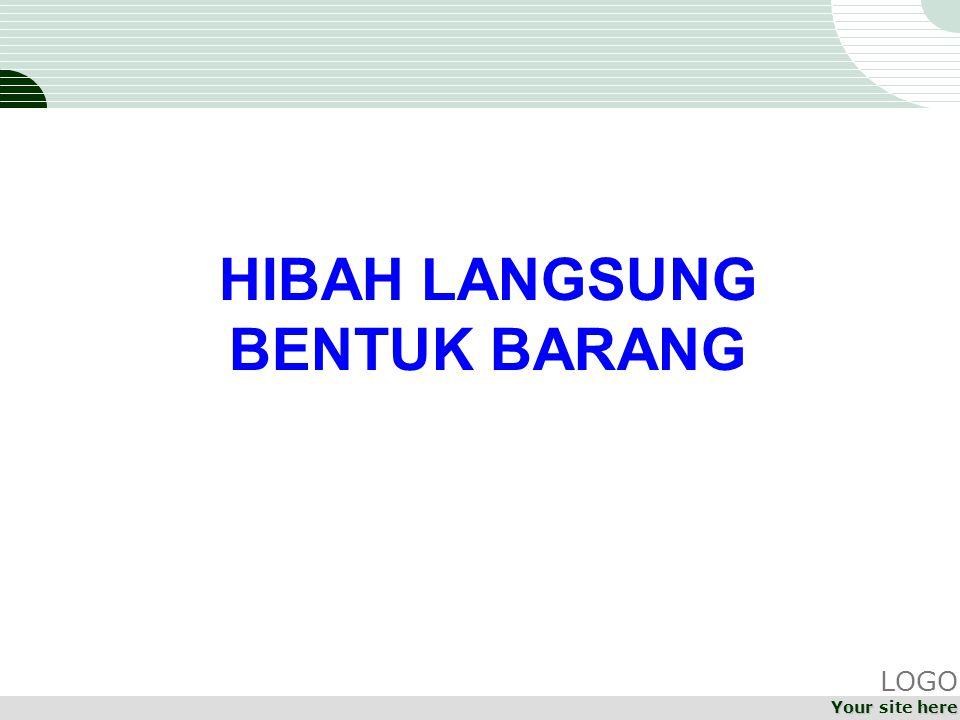 HIBAH LANGSUNG BENTUK BARANG LOGO Your site here