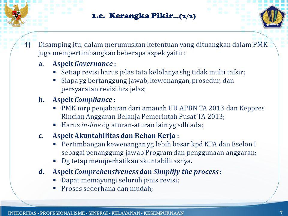 INTEGRITAS PROFESIONALISME SINERGI PELAYANAN KESEMPURNAAN 7 1.c.