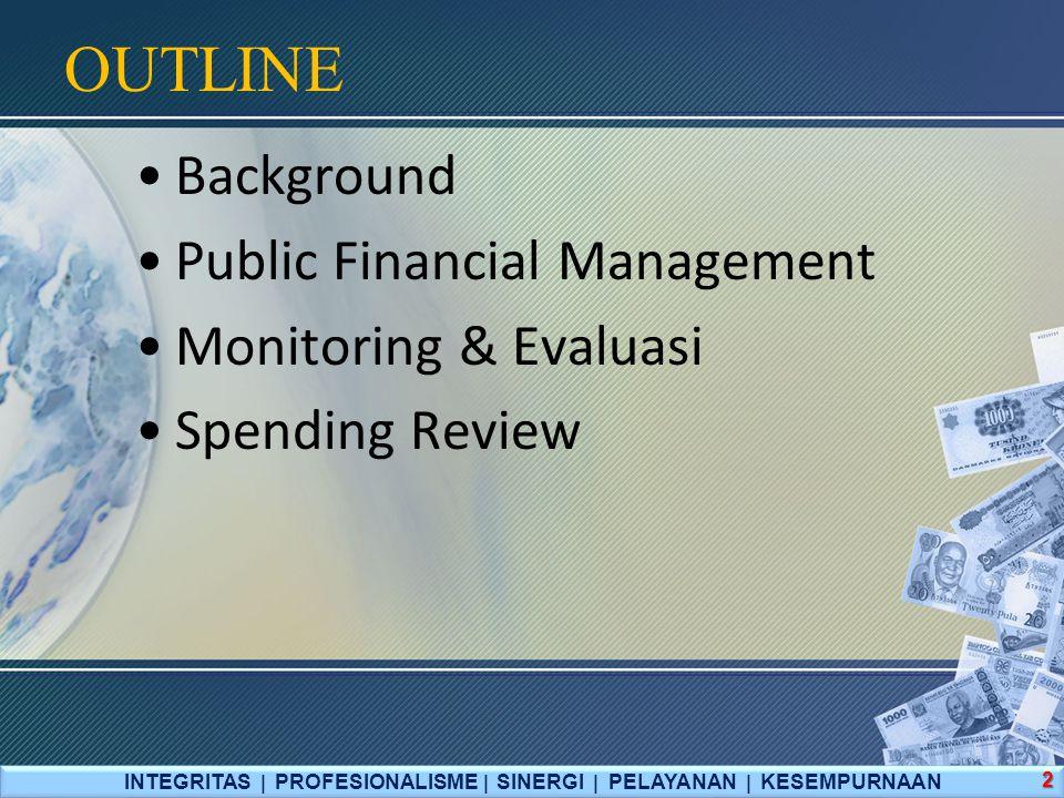 Penganggaran INTEGRITAS  PROFESIONALISME  SINERGI  PELAYANAN  KESEMPURNAAN 13 Budgeting Unified Budget MTEF PBB Menjamin Aggregate Fiscal Dicipline Menjamin efisiensi alokasi sumber daya Meningkatkan efisiensi operasional
