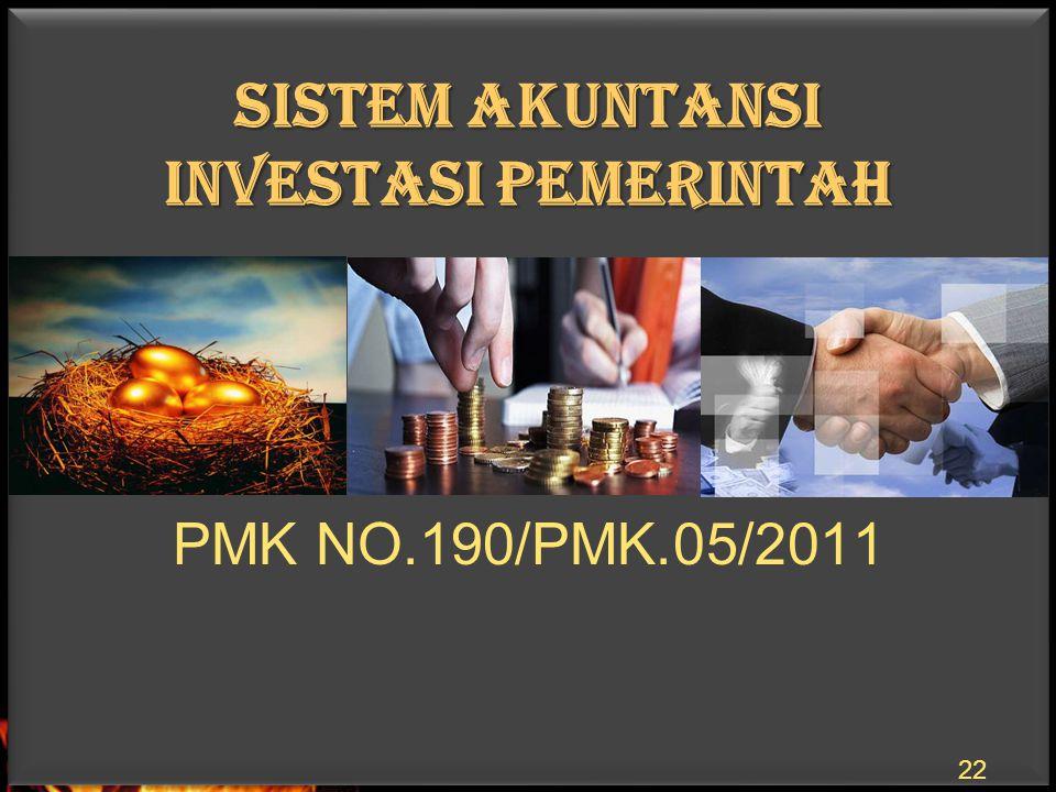 SISTEM AKUNTANSI INVESTASI PEMERINTAH 22 PMK NO.190/PMK.05/2011