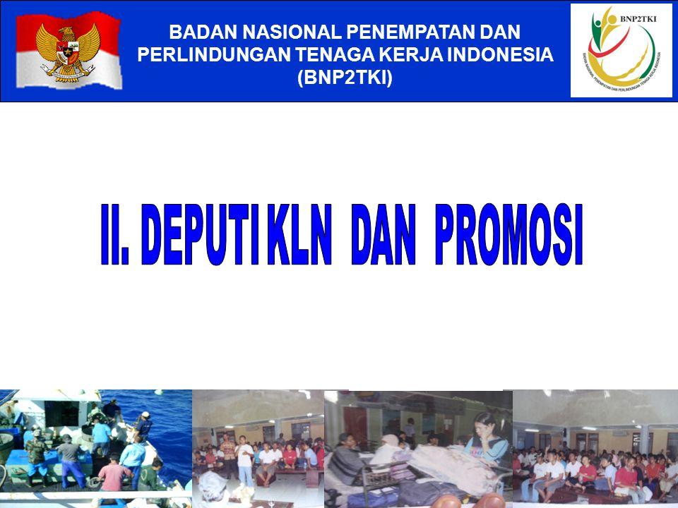 BADAN NASIONAL PENEMPATAN DAN PERLINDUNGAN TENAGA KERJA INDONESIA (BNP2TKI) 2006 USD 5.560.250.452 2007 USD 6.003.809.000 2008 USD 6.617.865.564 2009