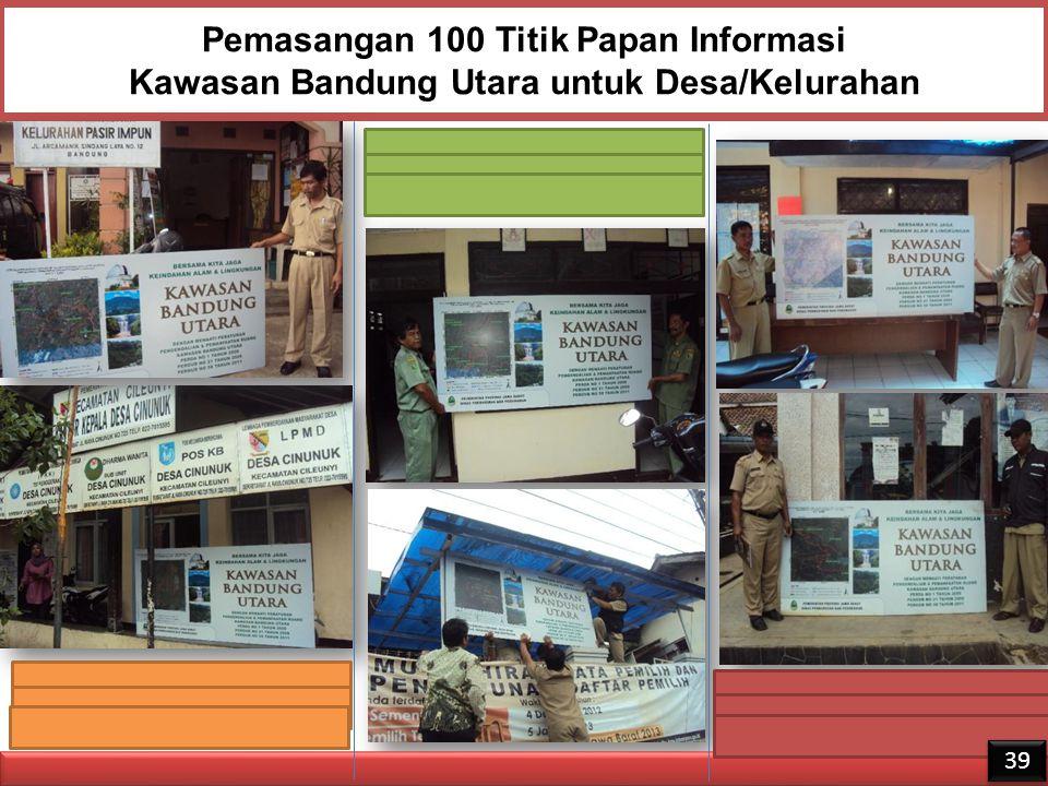 Pemasangan 100 Titik Papan Informasi Kawasan Bandung Utara untuk Desa/Kelurahan 39