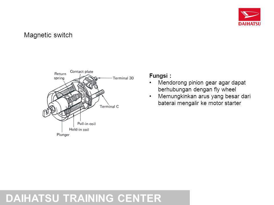 Cara kerja magnetic switch DAIHATSU TRAINING CENTER