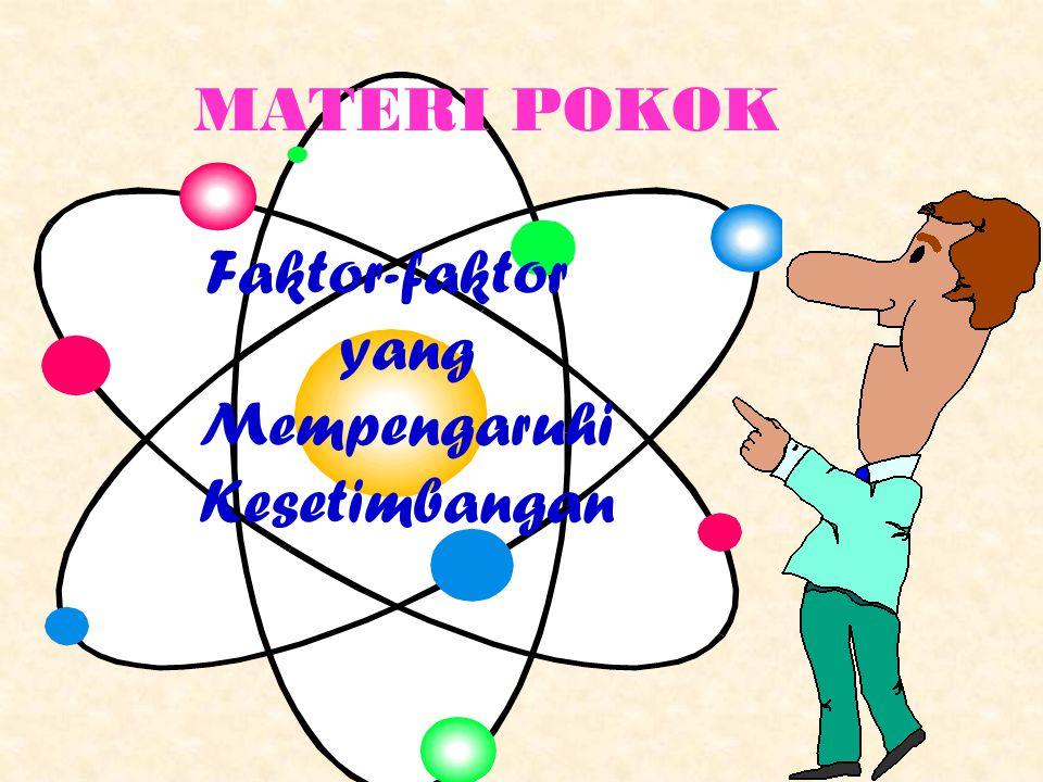 MATERI POKOK Faktor-faktor yang Mempengaruhi Kesetimbangan