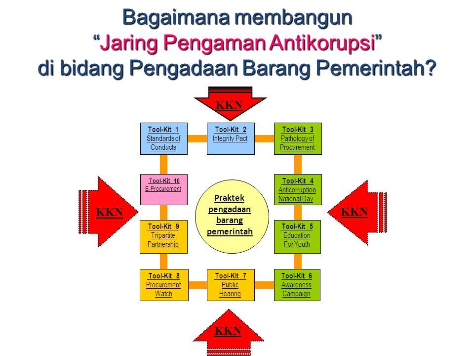 """Bagaimana membangun """"Jaring Pengaman Antikorupsi"""" di bidang Pengadaan Barang Pemerintah? Praktek pengadaan barang pemerintah Tool-Kit 2 Integrity Pact"""