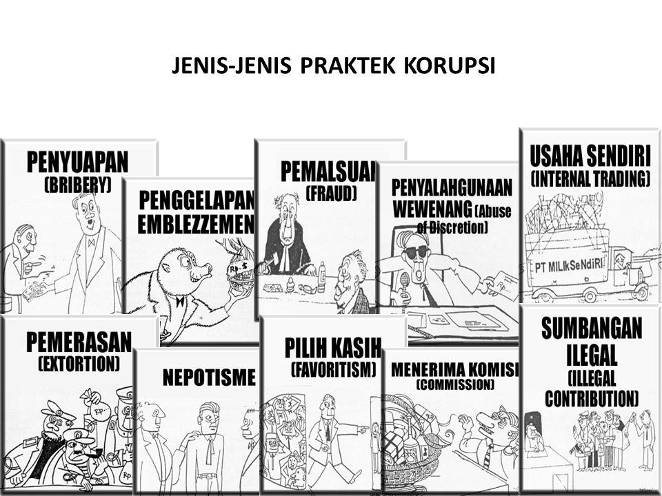 JENIS-JENIS PRAKTEK KORUPSI