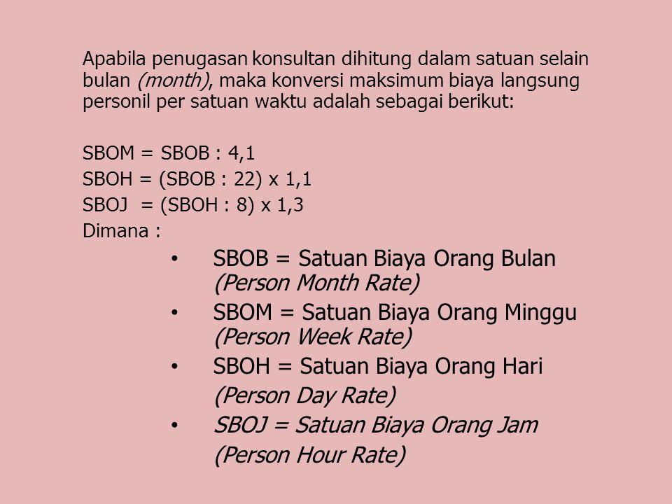 5.Dari juklak tersebut perhitungan biaya langsung personil (BLP) menggunakan formula sebagai berikut : GD = Gaji Dasar BBS = Beban Biaya Sosial BBU = Beban Biaya Umum TP = Tunj.