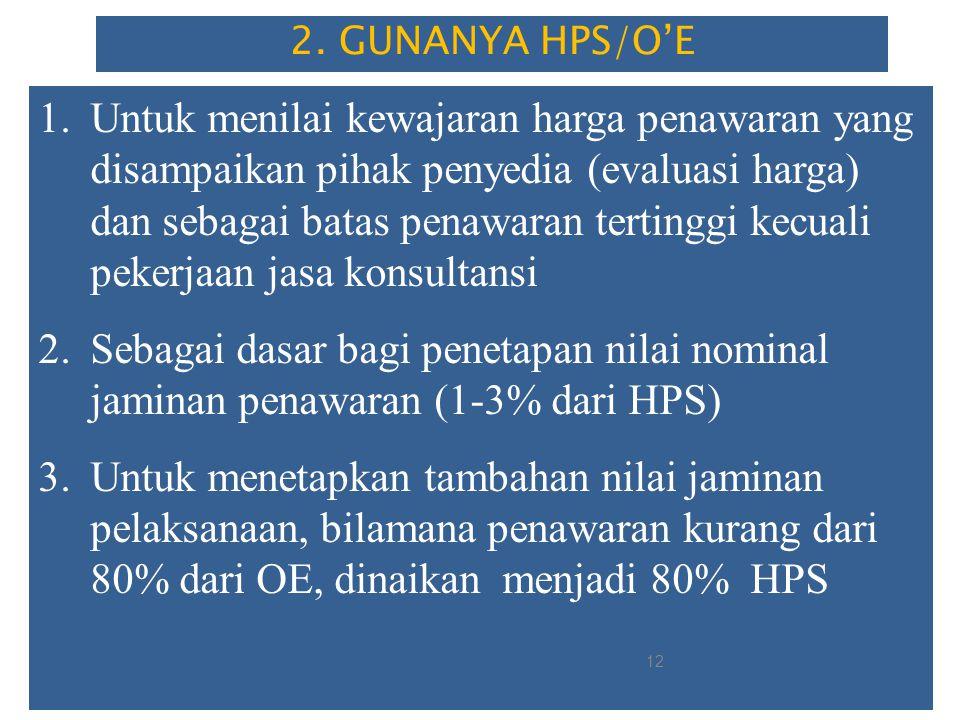 Penyusunan HPS didasarkan pada data harga pasar setempat, yang diperoleh berdasarkan hasil survei menjelang dilaksanakannya Pengadaan, dengan mempertimbangkan informasi yang meliputi: a.Informasi biaya satuan yang dipublikasikan secara resmi oleh BPS; b.Informasi biaya satuan yang dipublikasikan secara resmi oleh asosiasi terkait dan sumber data lain yang dapat dipertanggungjawabkan; c.Daftar biaya/tarif B/J yang dikeluarkan oleh pabrikan/distributor tunggal; d.biaya Kontrak sebelumnya atau yang sedang berjalan dengan mempertimbangkan faktor perubahan biaya; e.inflasi tahun sebelumnya, suku bunga berjalan dan/atau kurs tengah Bank Indonesia; f.hasil perbandingan dengan Kontrak sejenis, baik yang dilakukan dengan instansi lain maupun pihak lain; g.perkiraan perhitungan biaya oleh konsultan perencana (engineer's estimate); h.norma indeks; dan/atau i.informasi lain yang dapat dipertanggungjawabkan HPS telah memperhitungkan PPn dan ( overhead + Profit yang wajar maks 15 %) HPS TIDAK BOLEH memperhitungkan biaya tak terduga, biaya lain-lain dan PPh penyedia barang/jasa