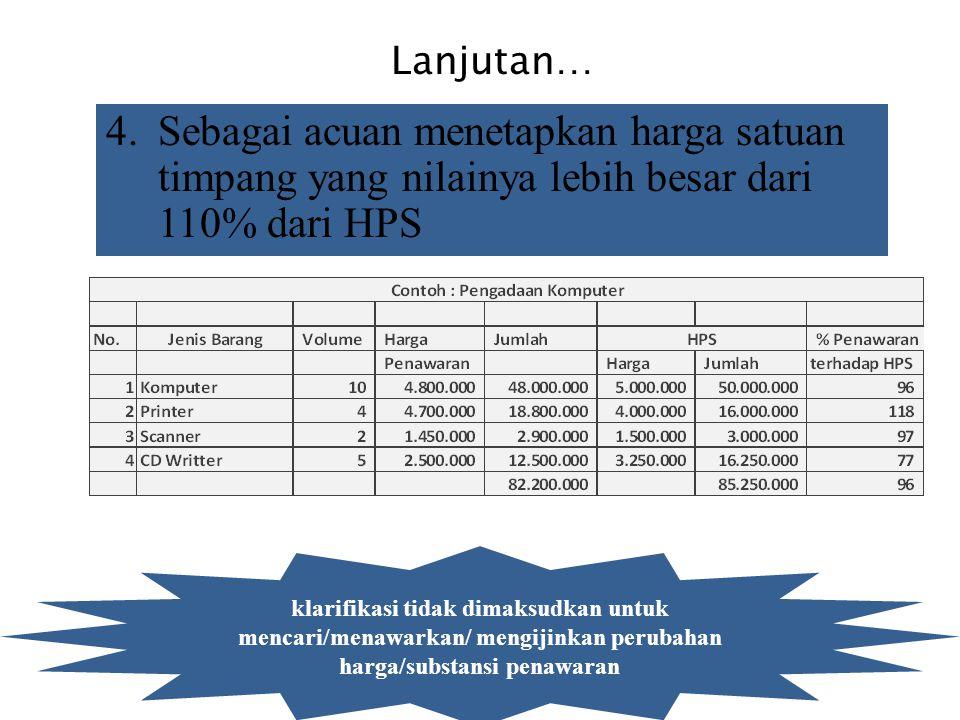 2. GUNANYA HPS/O'E 1.Untuk menilai kewajaran harga penawaran yang disampaikan pihak penyedia (evaluasi harga) dan sebagai batas penawaran tertinggi ke