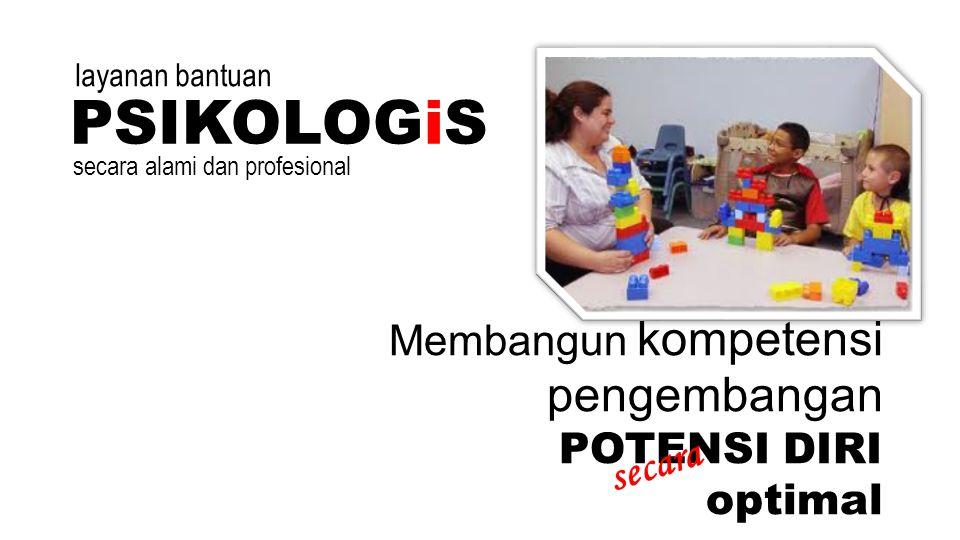 Membangun kompetensi pengembangan POTENSI DIRI optimal PSIKOLOGiS secara secara alami dan profesional layanan bantuan