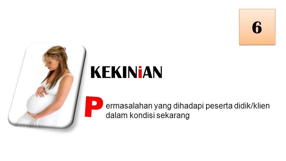 KEKINiAN 6 6 ermasalahan yang dihadapi peserta didik/klien dalam kondisi sekarang P
