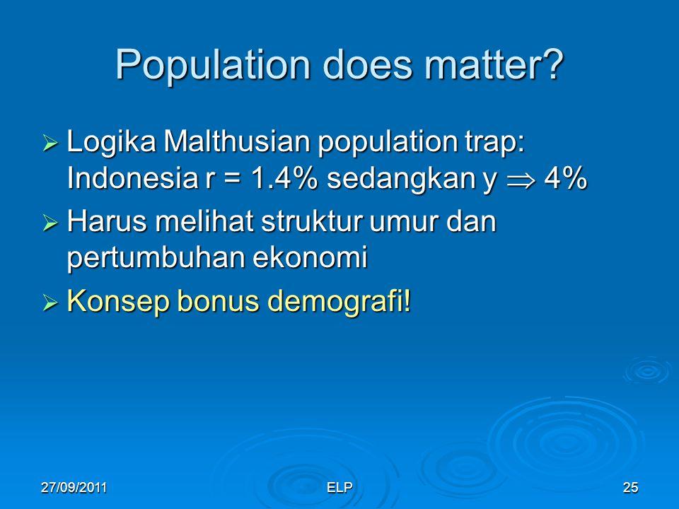 ELP25 Population does matter.