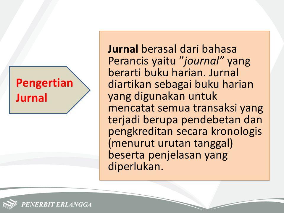 "Pengertian Jurnal Jurnal berasal dari bahasa Perancis yaitu ""journal"" yang berarti buku harian. Jurnal diartikan sebagai buku harian yang digunakan un"