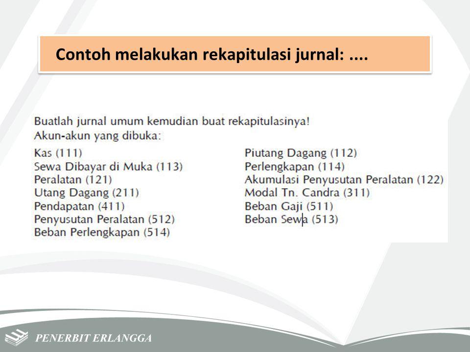 Contoh melakukan rekapitulasi jurnal:....