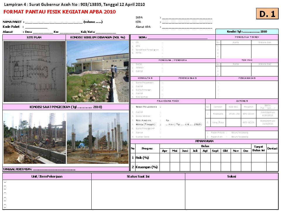 Lampiran 5 : Surat Gubernur Aceh No : 903/13835, Tanggal 12 April 2010
