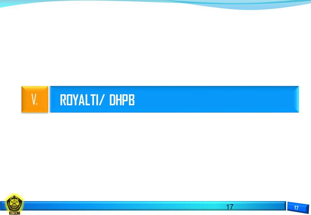 ROYALTI/ DHPB 17 V.V.