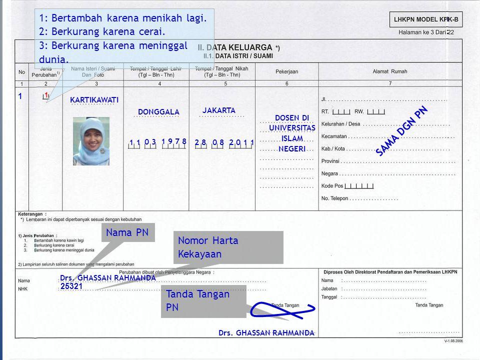 KESALAHAN DALAM PENGISIAN MODEL KPK B - Tidak Mengisi Per : Tgl./Bln./Thn.