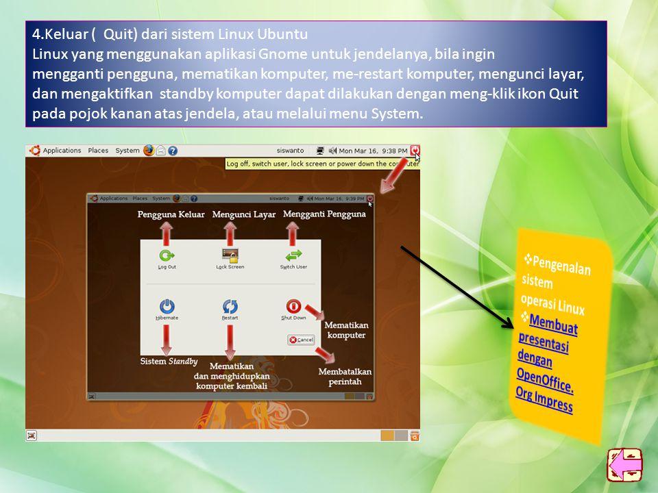 3.Program Manager Linux Ubuntu Program manager merupakan suatu aplikasi yang digunakan untuk mengatur file atau folder hingga bisa terlihat rapi, dan memudahkan kita dalam mencari suatu Dokumen.