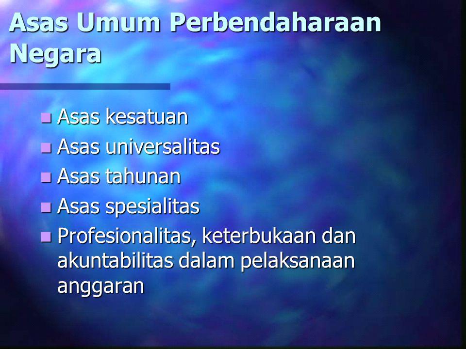 Pengertian Perbendaharaan Negara (Psl 1 ay.1) Perbendaharaan Negara adalah pengelolaan dan pertanggungjawaban keuangan negara, termasuk investasi dan kekayaan yang dipisahkan, yang ditetapkan dalam APBN dan APBD Perbendaharaan Negara adalah pengelolaan dan pertanggungjawaban keuangan negara, termasuk investasi dan kekayaan yang dipisahkan, yang ditetapkan dalam APBN dan APBD