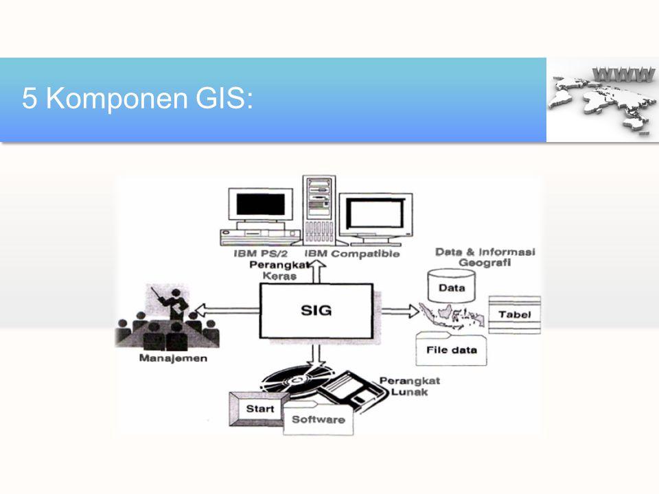 5 Komponen GIS: