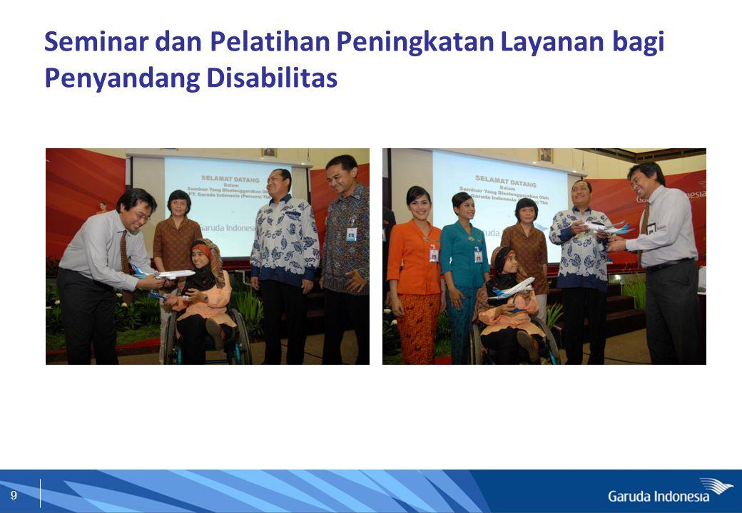 9 Seminar dan Pelatihan Peningkatan Layanan bagi Penyandang Disabilitas