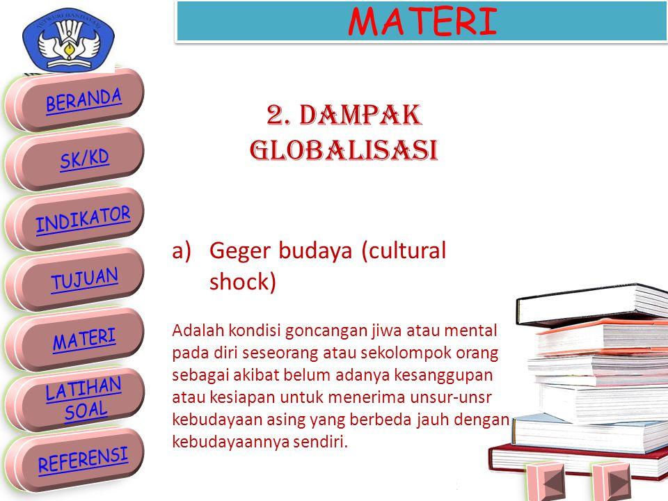 MATERI G.GLOBALISASI 1. Pengertian Globalisasi diambil dari kata globe yang berarti bola dunia.