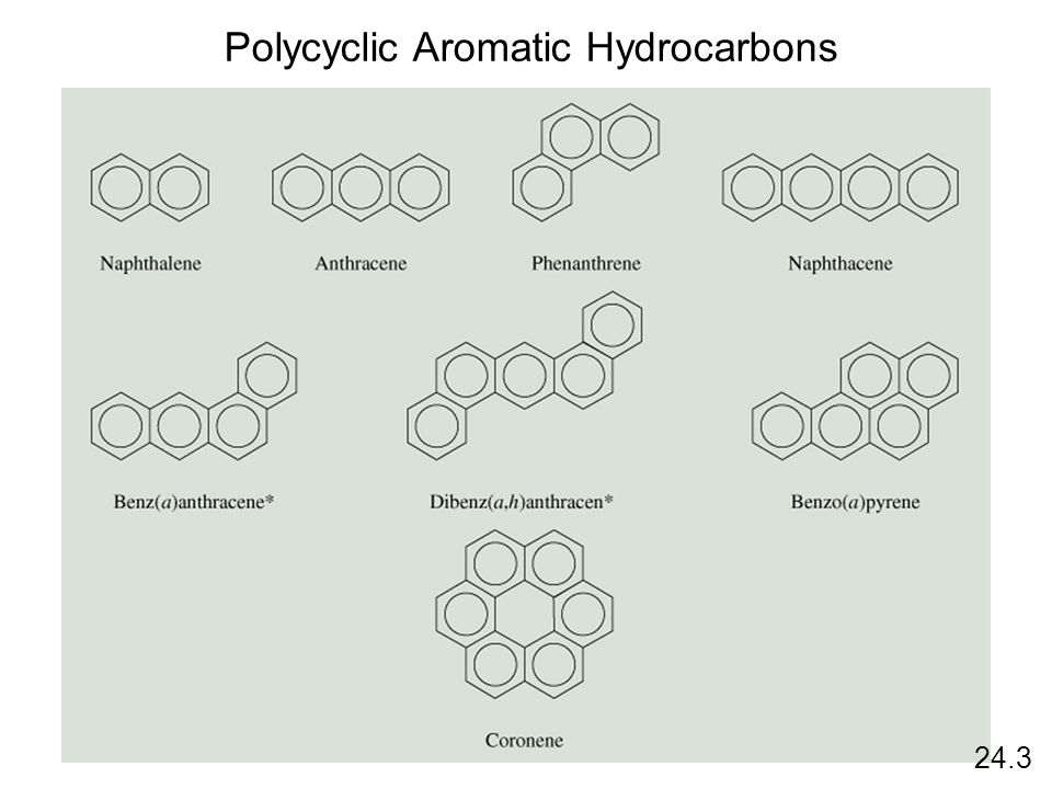 24.3 Polycyclic Aromatic Hydrocarbons