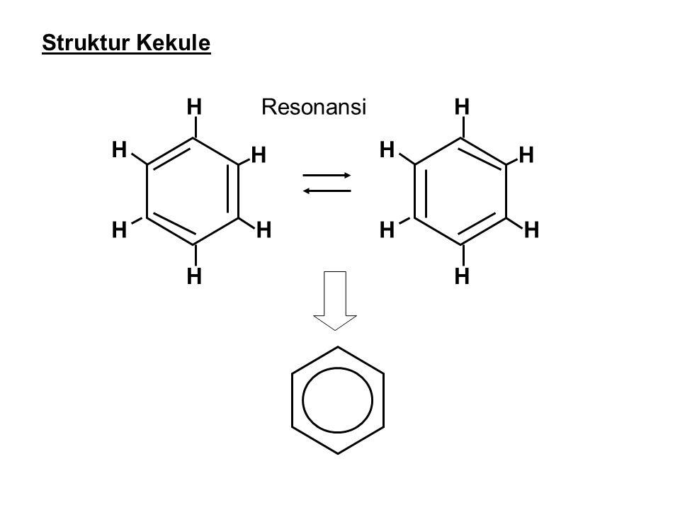 Isomer disubstitusi Benzena (dua substitusi) X X XX X X Struktur orto Struktur paraStruktur meta Ketiga zat tentu memiliki rumus molekul yang sama
