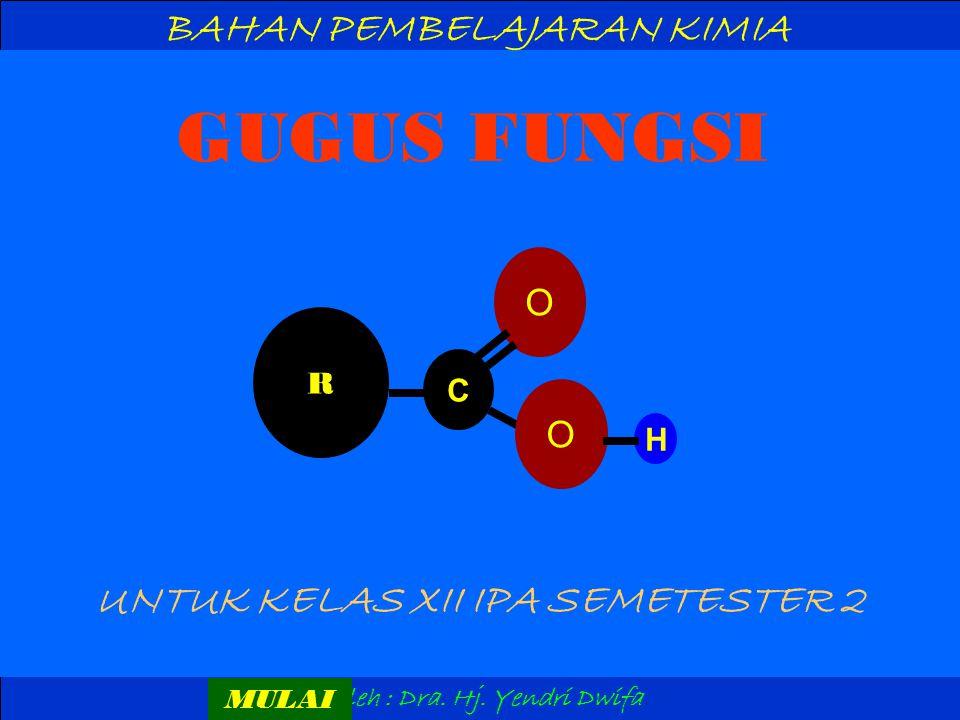 G U G U S F U N G S I 1.Gugus fungsi dari alkohol adalah ….