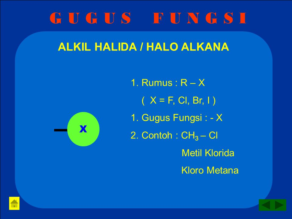 G U G U S F U N G S I ESTER / ALKIL ALKANOAT 1.Rumus : R – COO - R 2.Gugus Fungsi : - COO - 3.Contoh : CH 3 – COO – CH 3 Metil Metanoat / Metil Formiat O C O