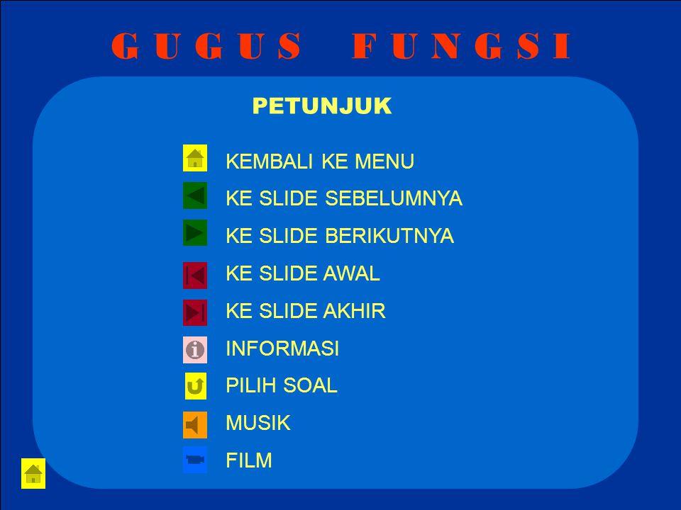 G U G U S F U N G S I 9.Senyawa berikut termasuk golongan …..