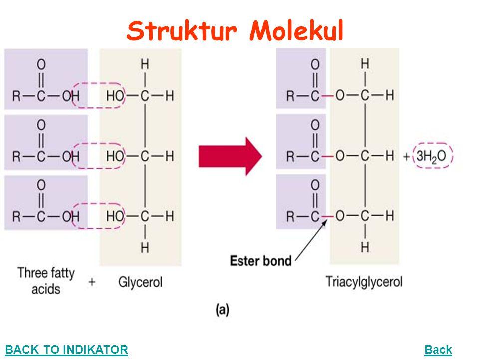 Sifat Kimia Lemak + 1. Reaksi antara 3 molekul asam oleat dengan 1 molekul gliserol trioleat
