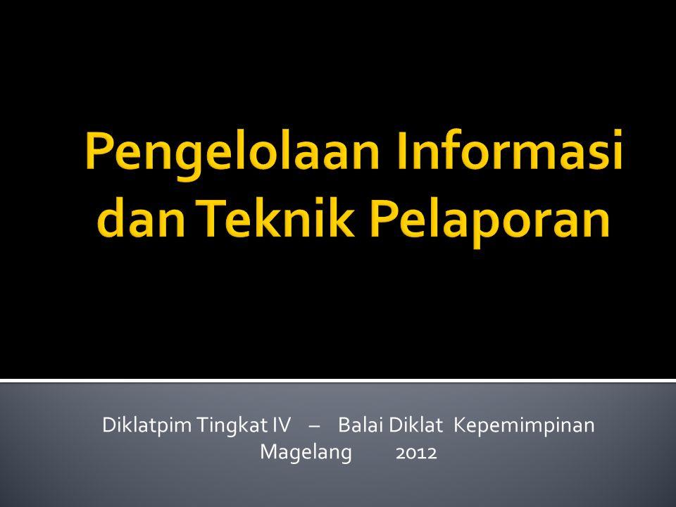 Terminologi Administrasi Perkantoran Modern Sistem Informasi Manajemen Teknik Pelaporan (Teknologi Informasi) Tujuan: Meningkatkan kinerja instansi pemerintah dan layanan publik