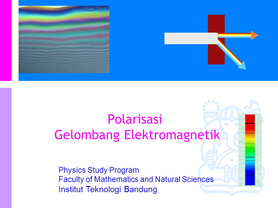 Physics Study Program Faculty of Mathematics and Natural Sciences Institut Teknologi Bandung Polarisasi Gelombang Elektromagnetik