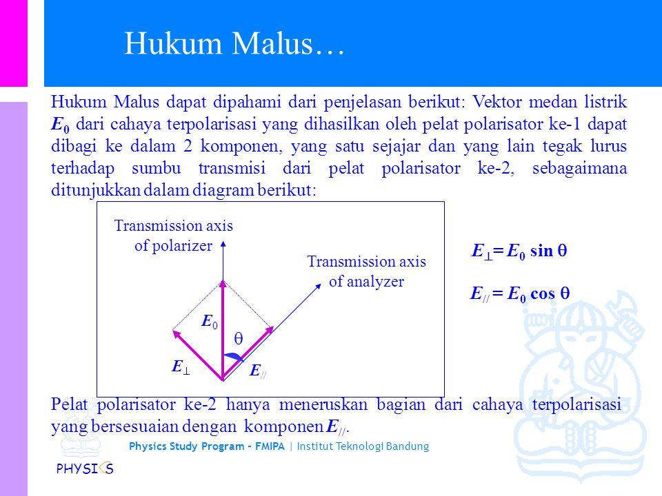 Physics Study Program - FMIPA | Institut Teknologi Bandung PHYSI S Hubungan antara I dan  pertama kali ditemukan oleh insinyur AD Prancis E.