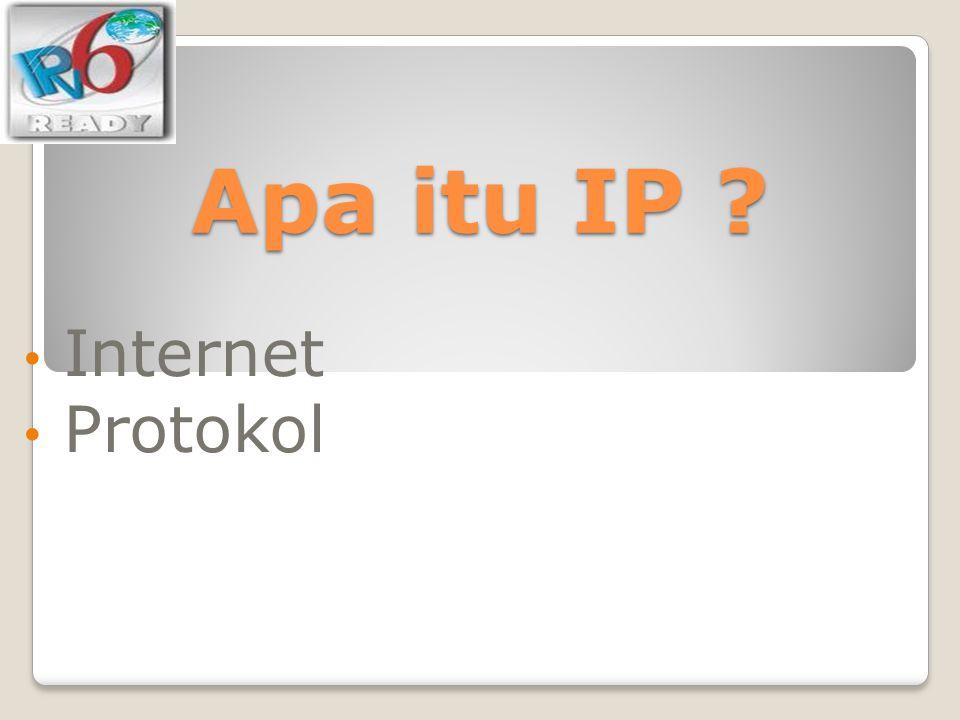RIR Regional Internet Registry AfriNIC, APNIC, ARIN, LACNIC, RIPE NCC Organisasi yang mengatur, mengalokasikan, registrasi IP Address dan ASN