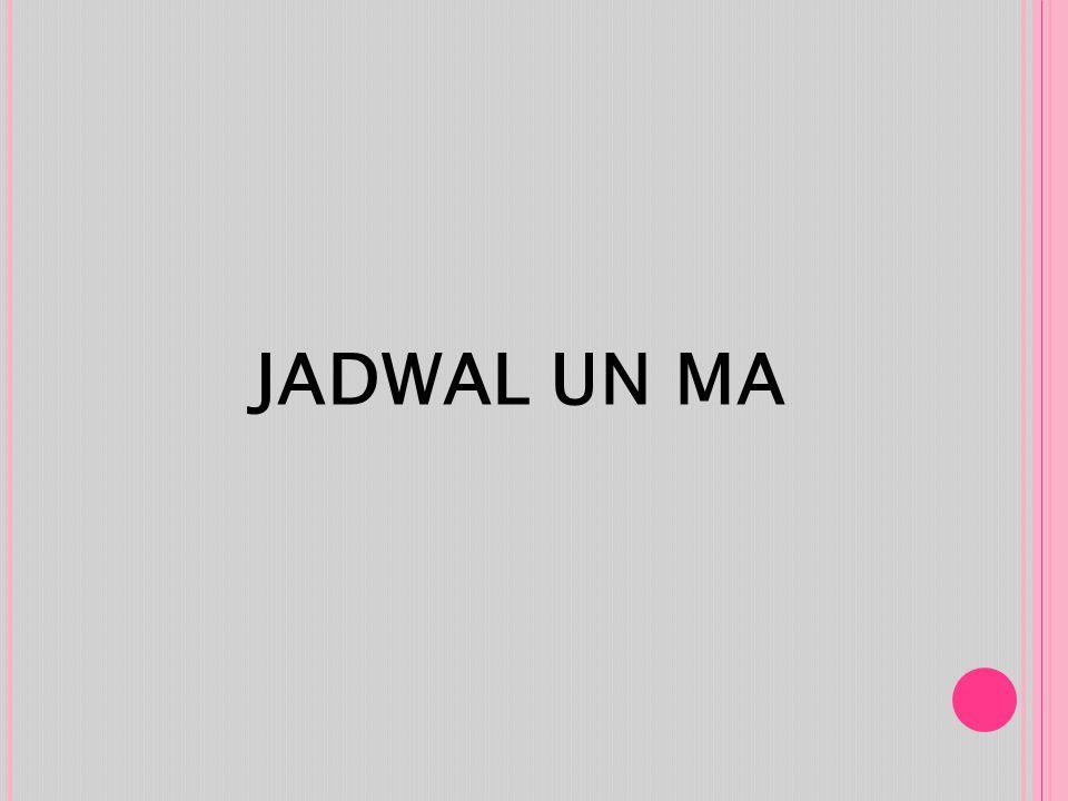 JADWAL UN MA