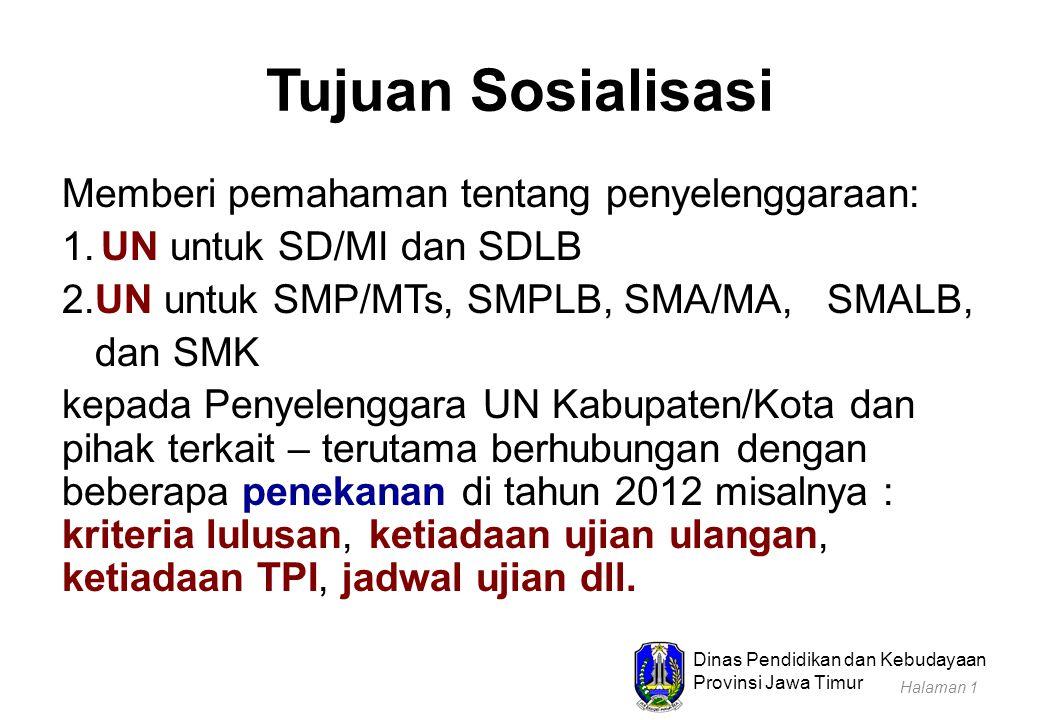Dinas Pendidikan dan Kebudayaan Provinsi Jawa Timur 1.