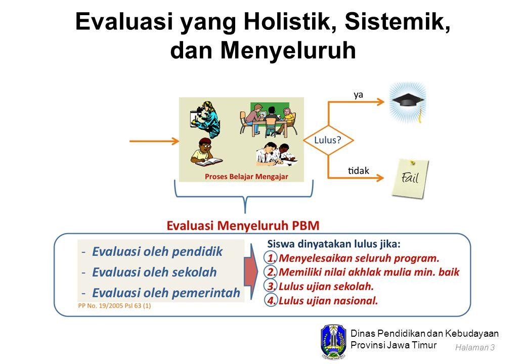 Dinas Pendidikan dan Kebudayaan Provinsi Jawa Timur Kriteria Penyelesaian Seluruh Program Pembelajaran oleh Peserta Didik Telah menyelesaikan proses pembelajaran:  SD/MI dan SDLB: kelas I sampai kelas VI  SMP/MTs dan SMPLB: kelas VII sampai kelas IX  SMA/MA, SMALB, SMK : kelas X sampai kelas XII Halaman 14