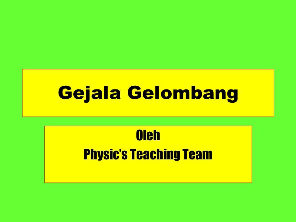 Gejala Gelombang Oleh Physic's Teaching Team