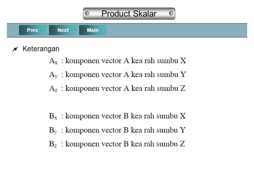 NextPrev.Main Product Skalar  Keterangan