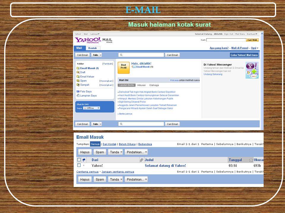 E-MAIL Masuk halaman kotak surat