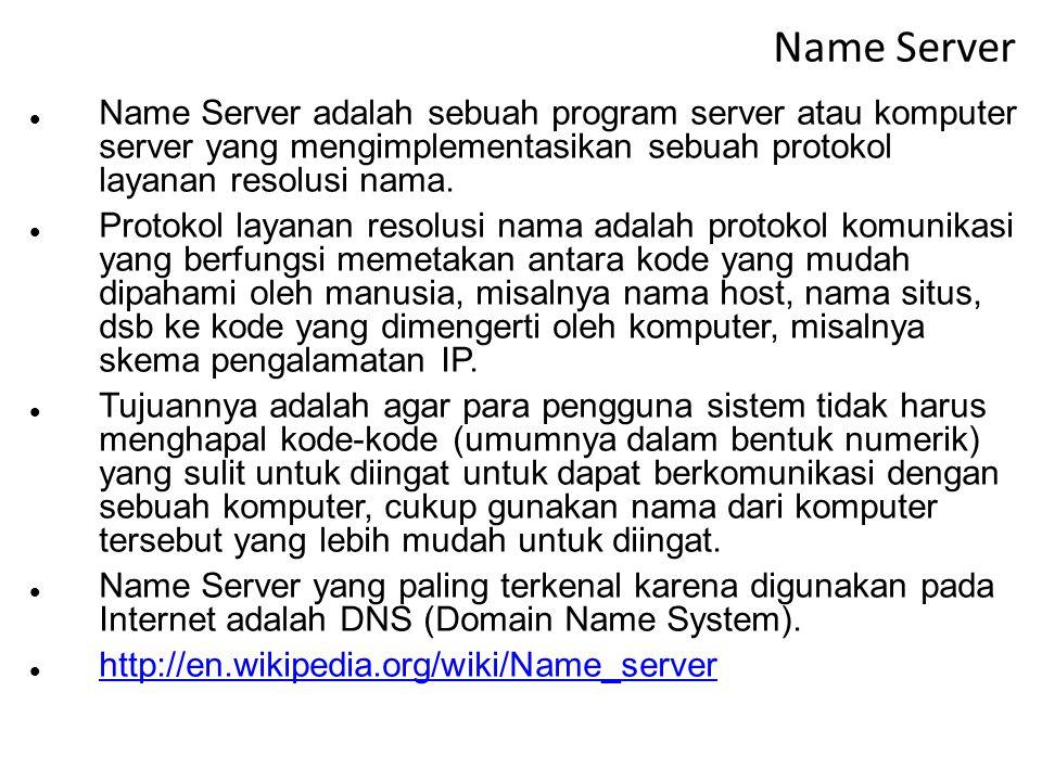 DHCP Server DHCP Server adalah komputer server yang digunakan untuk memberikan pelayanan konfigurasi bagi host-host yang tergabung dalam sebuah jaring