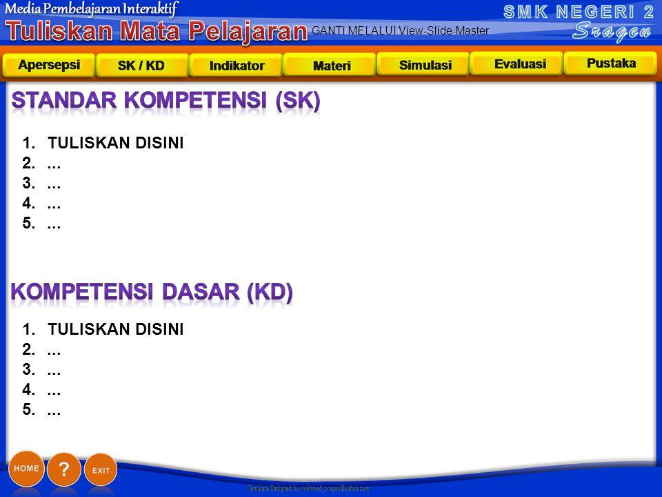GANTI MELALUI View-Slide-Master Sk/kd 1.TULISKAN DISINI 2....